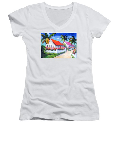 Serenity In Paradise Women's V-Neck T-Shirt