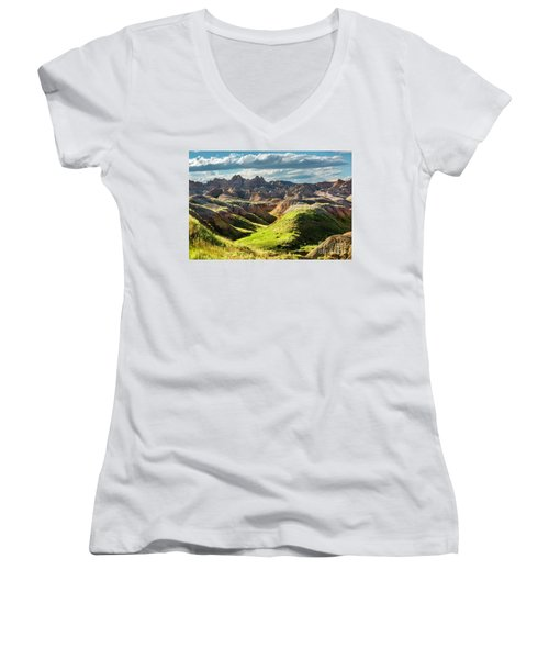 Shades Of Light Women's V-Neck (Athletic Fit)