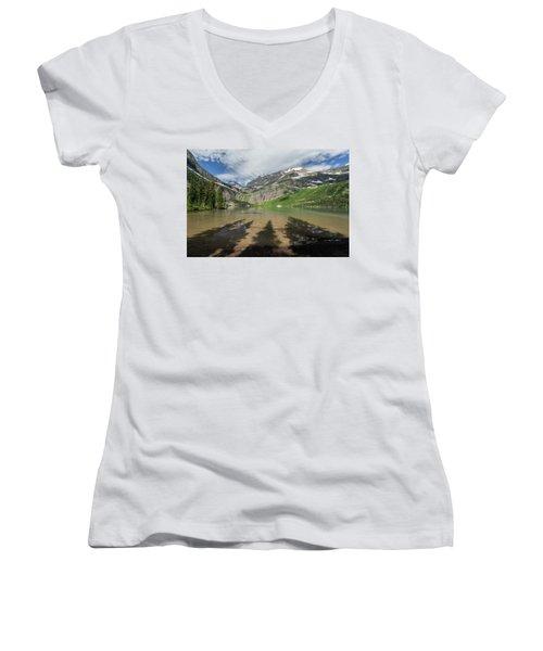 Shadows Women's V-Neck T-Shirt (Junior Cut) by Alpha Wanderlust