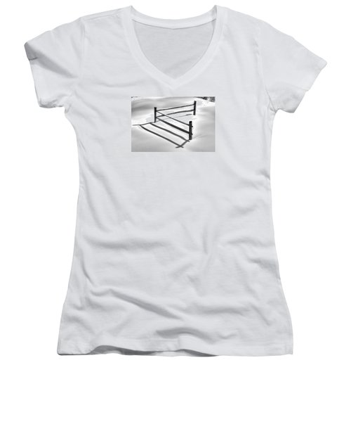 Shadows In The Snow - No. 1 Women's V-Neck (Athletic Fit)