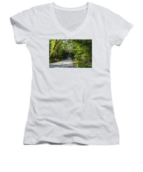 Shady Lane In Ocklawaha Women's V-Neck T-Shirt