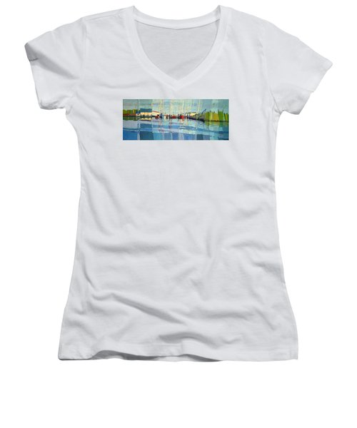 Shark River Inlet Women's V-Neck (Athletic Fit)