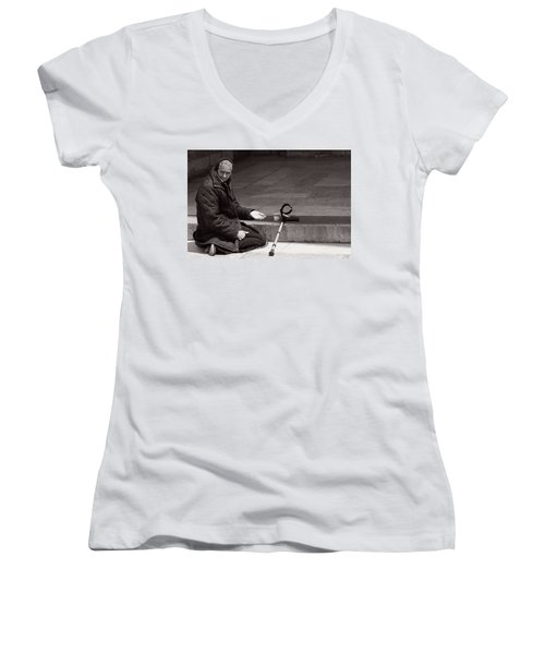 She Begs At The Cathedral Women's V-Neck T-Shirt