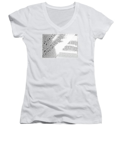 Sheet Music Women's V-Neck T-Shirt