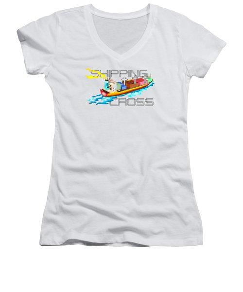 Shipping Cross Women's V-Neck