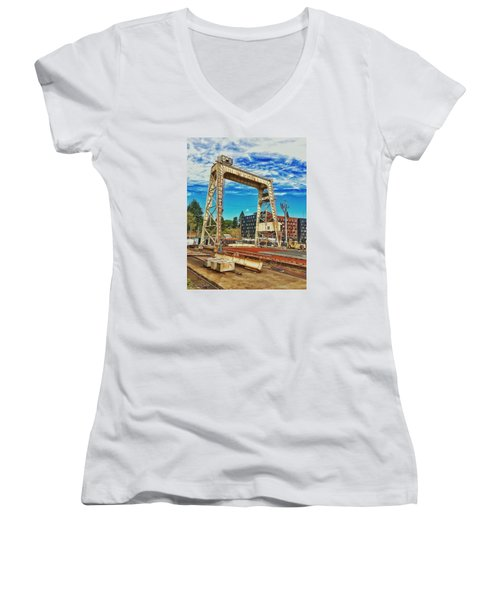 Shipyard Lunch Break Women's V-Neck (Athletic Fit)
