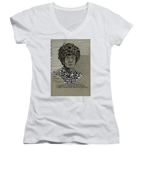 Shirley Chisholm Women's V-Neck T-Shirt