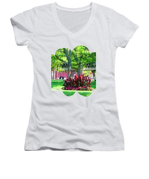 Shirts N Pod Gifts Boston N Surrounding Area Nature Photography By Navinjoshi Fineartamerica Pixles Women's V-Neck T-Shirt (Junior Cut) by Navin Joshi