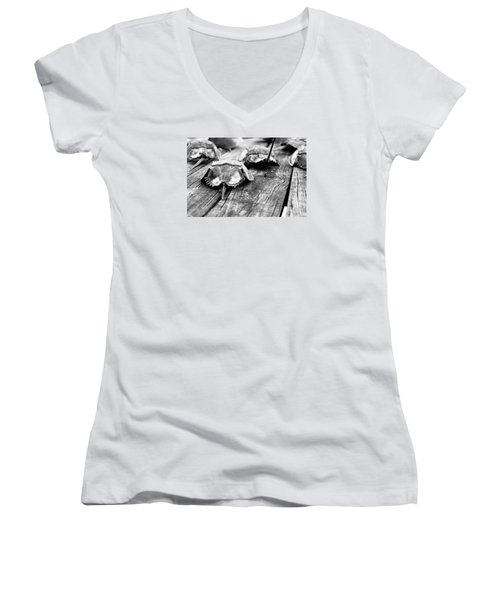 Shoes On The Table Women's V-Neck T-Shirt