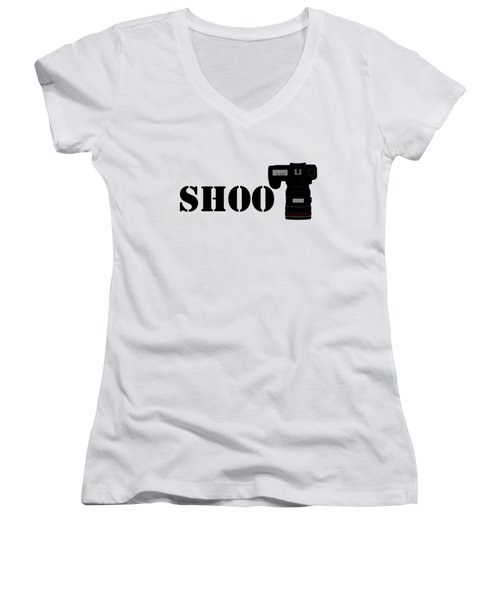 Shoot Women's V-Neck T-Shirt
