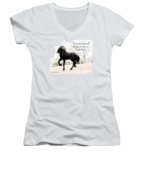 Show Me Your Horse Women's V-Neck