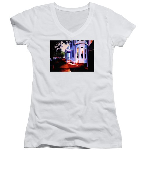 Side Street - Lambertville Women's V-Neck T-Shirt