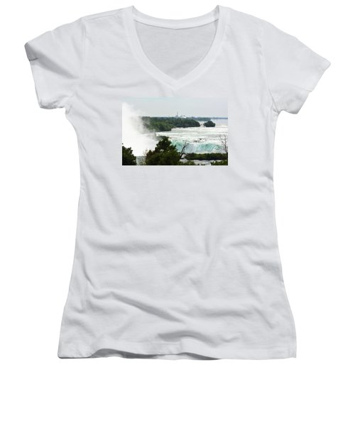 Sideview Mist Women's V-Neck