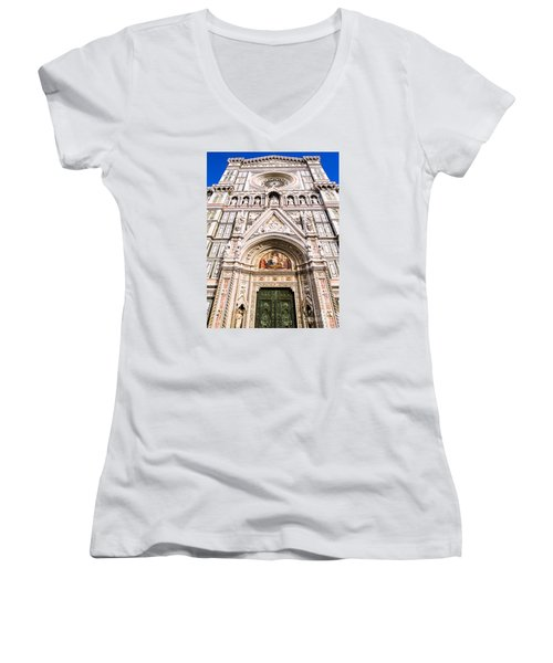 Siena Cathedral Women's V-Neck (Athletic Fit)