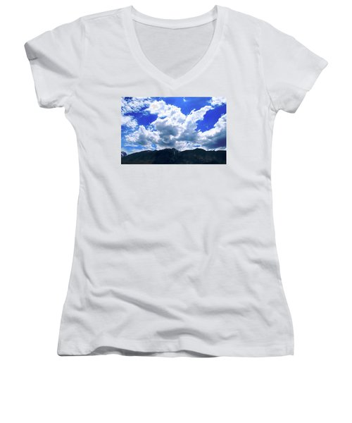Sierra Nevada Cloudscape Women's V-Neck T-Shirt (Junior Cut)