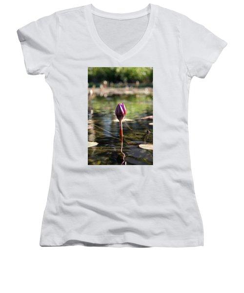 Silent. Women's V-Neck T-Shirt