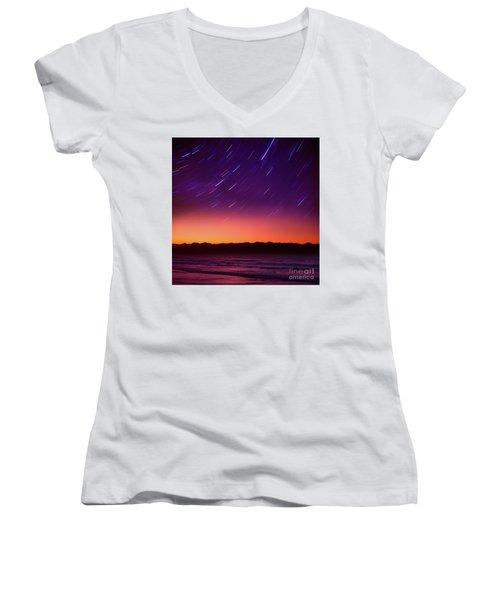 Silent Time Women's V-Neck T-Shirt