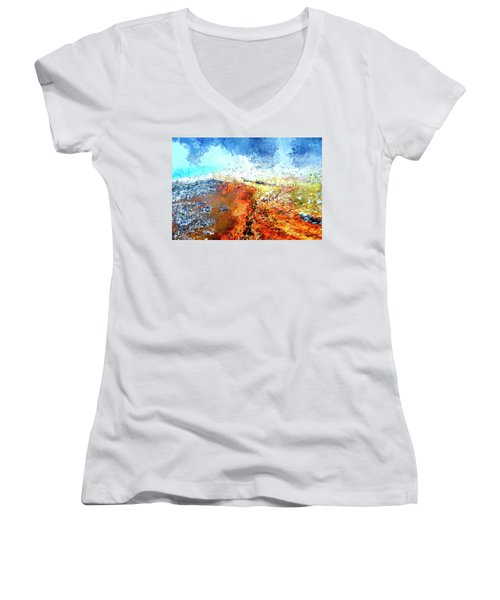 Silex Hot Springs Abstract Women's V-Neck (Athletic Fit)