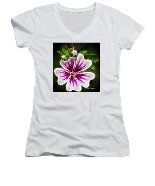Simple Beauty Women's V-Neck T-Shirt (Junior Cut) by Joann Copeland-Paul