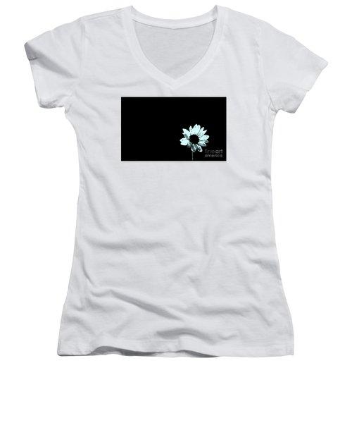 Women's V-Neck T-Shirt (Junior Cut) featuring the photograph Simplicity  by Juls Adams