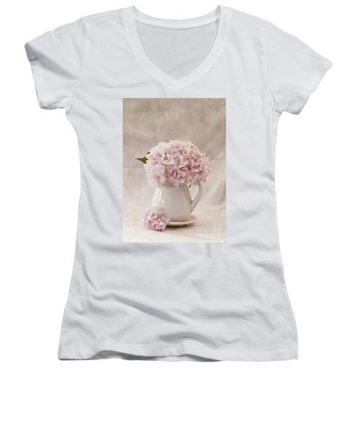 Simplicity Women's V-Neck T-Shirt (Junior Cut) by Sherry Hallemeier