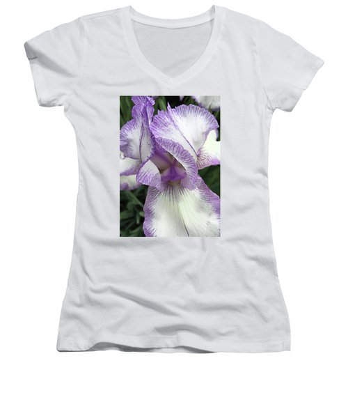 Women's V-Neck T-Shirt (Junior Cut) featuring the photograph Simply Beautiful by Sherry Hallemeier
