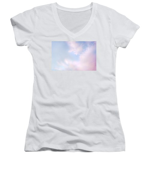 Women's V-Neck T-Shirt (Junior Cut) featuring the photograph Simply Heavenly by Theresa Tahara