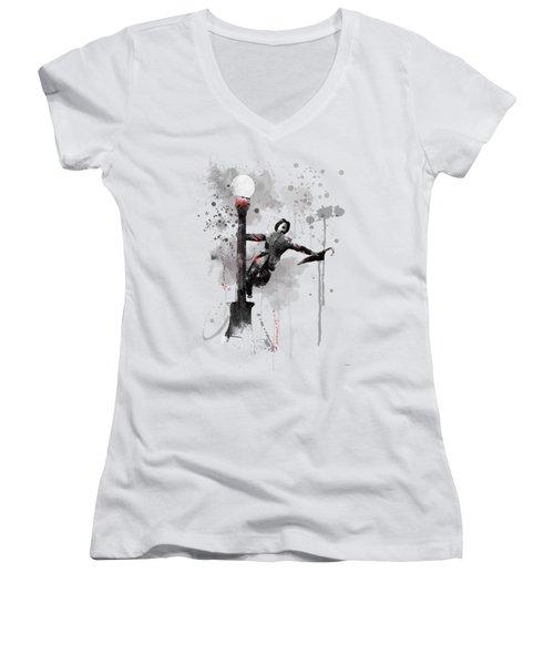 Singing In The Rain Women's V-Neck T-Shirt