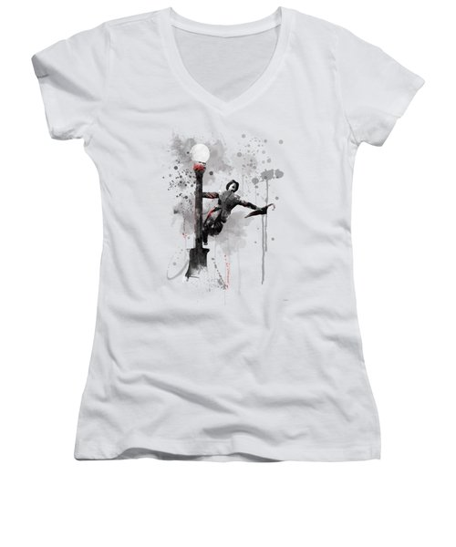 Singing In The Rain Women's V-Neck (Athletic Fit)