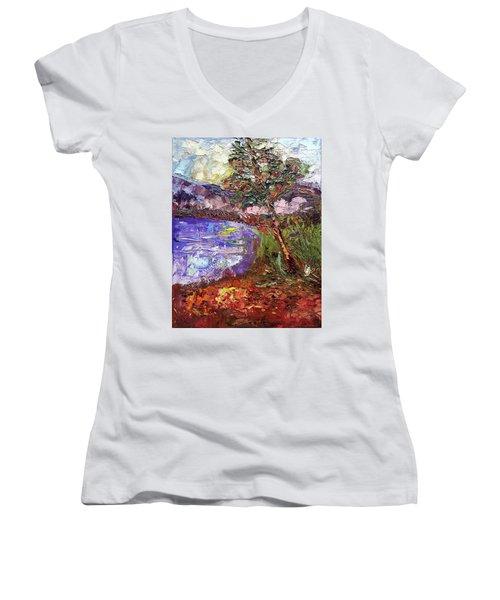 Single Women's V-Neck T-Shirt (Junior Cut) by Janet Garcia