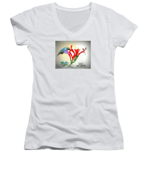 Sipping The Nectar Women's V-Neck T-Shirt