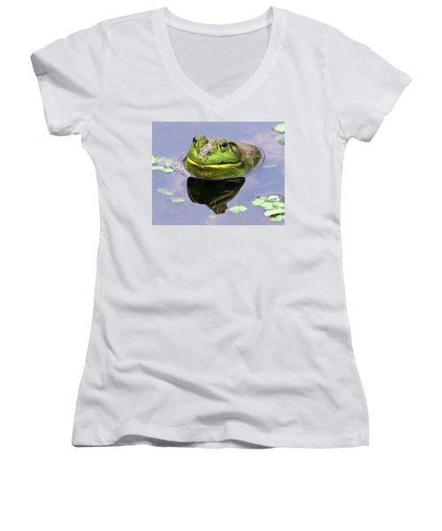Sir Bull Frog Women's V-Neck T-Shirt