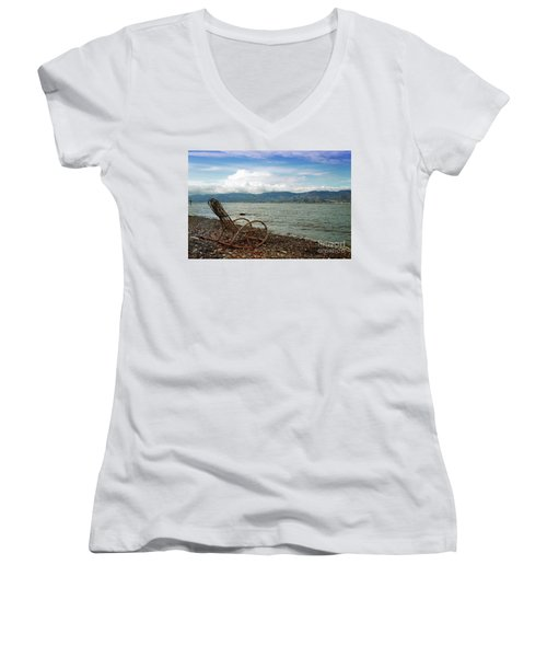 Sit Back And Enjoy Women's V-Neck