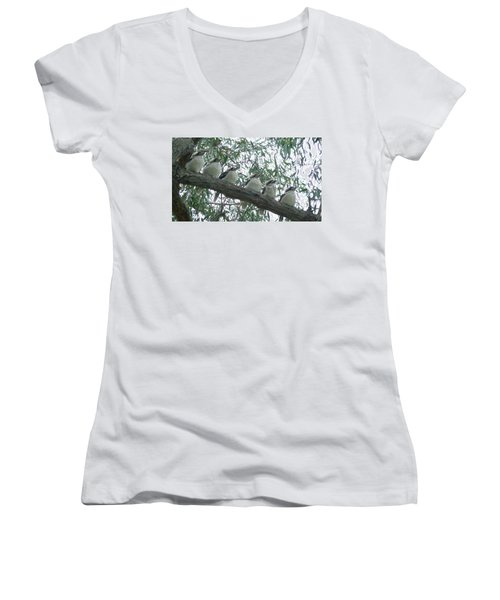 Six In A Row Women's V-Neck T-Shirt (Junior Cut) by Evelyn Tambour