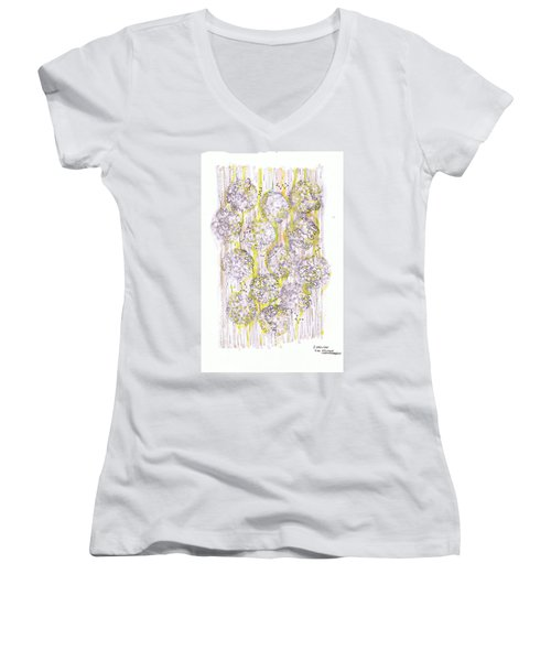 Size Exclusion Chromatography Women's V-Neck T-Shirt (Junior Cut) by Regina Valluzzi