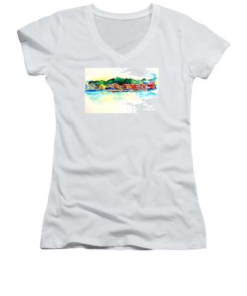 Skaneatelels Ny Women's V-Neck T-Shirt