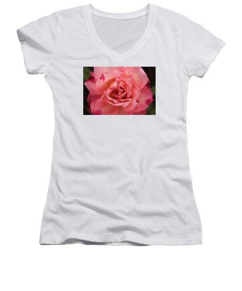 Skc 4942 The Pink Harmony Women's V-Neck T-Shirt