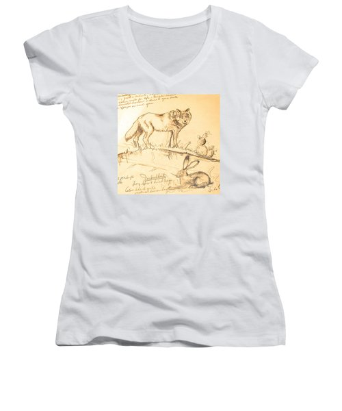 Sketches For Sale Women's V-Neck T-Shirt