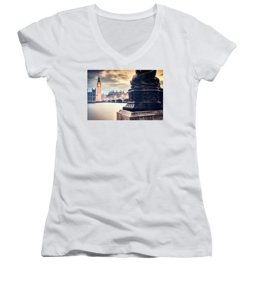 Skies Over London Women's V-Neck