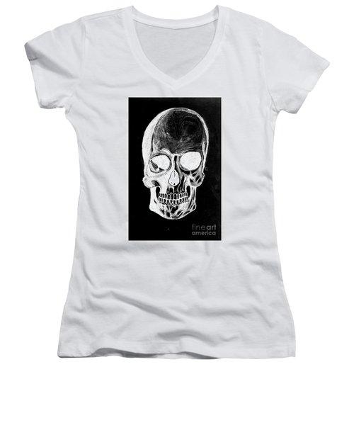 Skull Study 3 Women's V-Neck