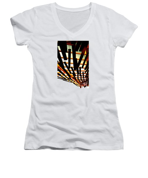 Sky Chasm Women's V-Neck T-Shirt (Junior Cut) by Cathy Dee Janes