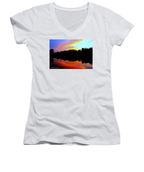 Sky Painting Women's V-Neck T-Shirt