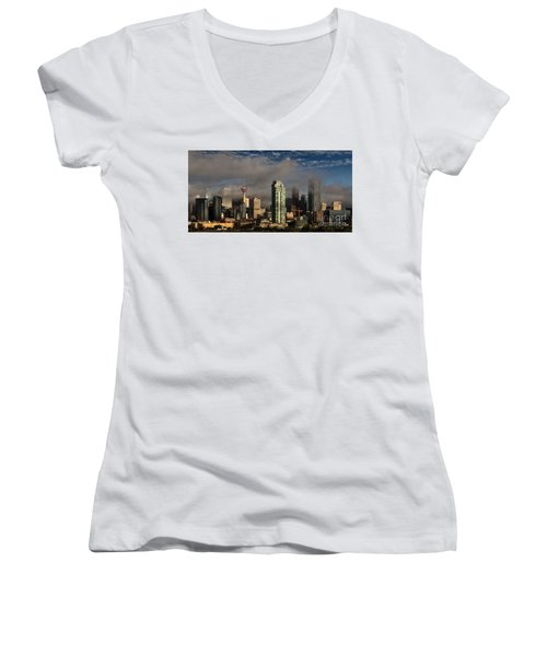 Skyline Fog Women's V-Neck T-Shirt