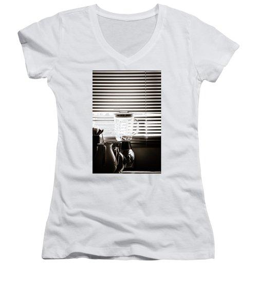Slatted Shadows Women's V-Neck T-Shirt