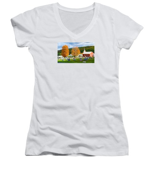 Sleeping Peacefully Women's V-Neck (Athletic Fit)