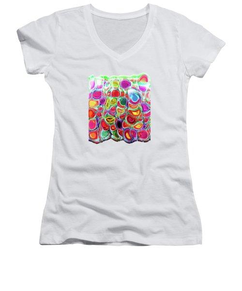 Slipping And Sliding Women's V-Neck T-Shirt (Junior Cut) by Menega Sabidussi