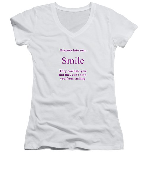 Smile Women's V-Neck T-Shirt