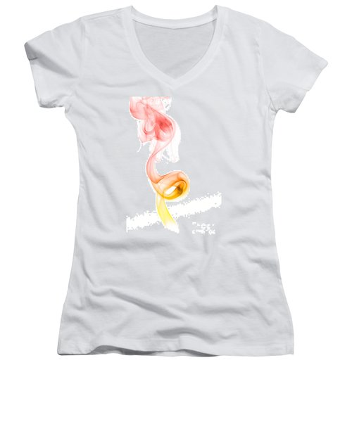 smoke XX Women's V-Neck T-Shirt (Junior Cut) by Joerg Lingnau