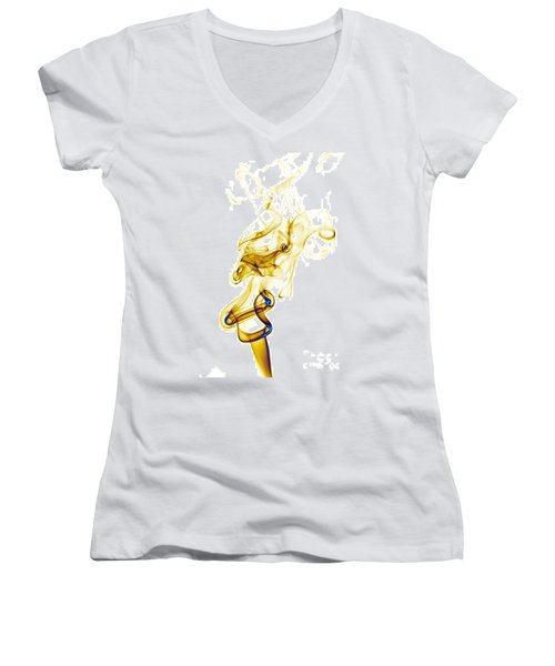 smoke XXXIX Women's V-Neck T-Shirt (Junior Cut) by Joerg Lingnau