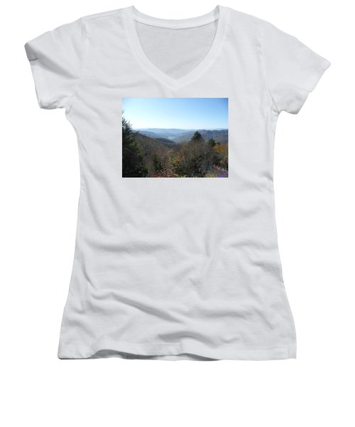 Smokies 16 Women's V-Neck T-Shirt (Junior Cut) by Val Oconnor